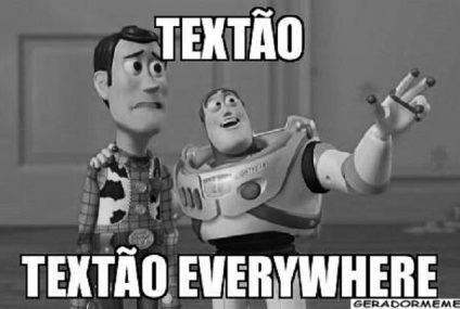Textão tem que ter tesão